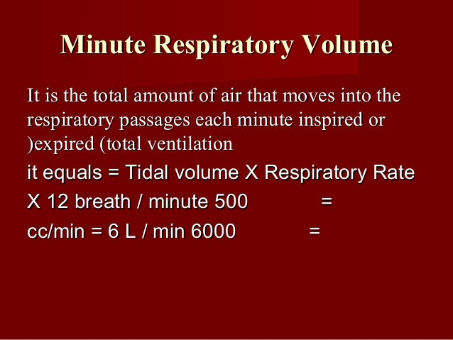 Dyspneic indexDyspneic index It is the ratio between BR and MVV and it isIt is the ratio between BR and MVV and it is usua...