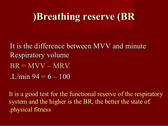 Timed vital capacityTimed vital capacity It is the volume of expired air at the end of theIt is the volume of expired air ...