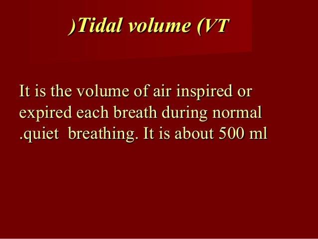 Tidal volumeTidal volume
