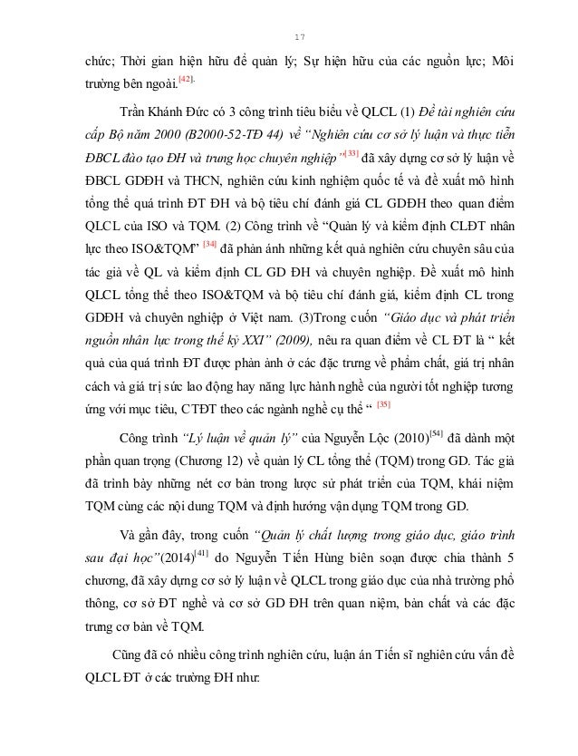 """18 Trịnh Ngọc Thạch với đề tài """"Hoàn thiện mô hình quản lý đào tạo nguồn nhân lực chất lượng cao trong các trường đại học ..."""
