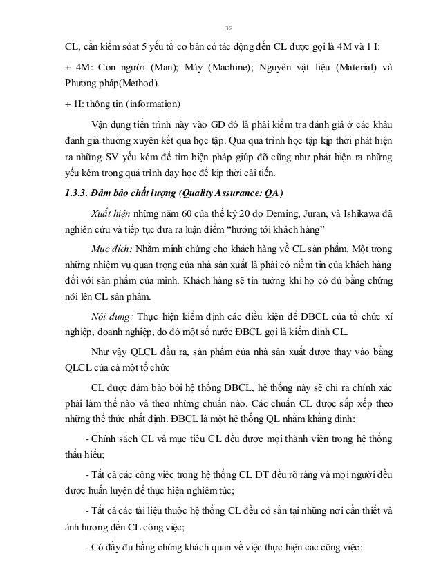 33 - Có hệ thống kiểm soát CL nhằm lôi cuốn mọi thành viên tự kiểm tra công việc của chính mình và tham gia vào đánh giá h...