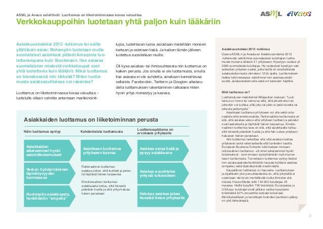 Luottamus liiketoiminnassa 2014_asml-avaus Slide 2