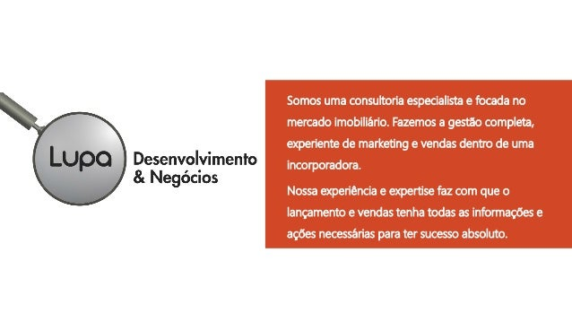 Somos uma consultoria especialista e focada no mercado imobiliário. Fazemos a gestão completa, experiente de marketing e v...