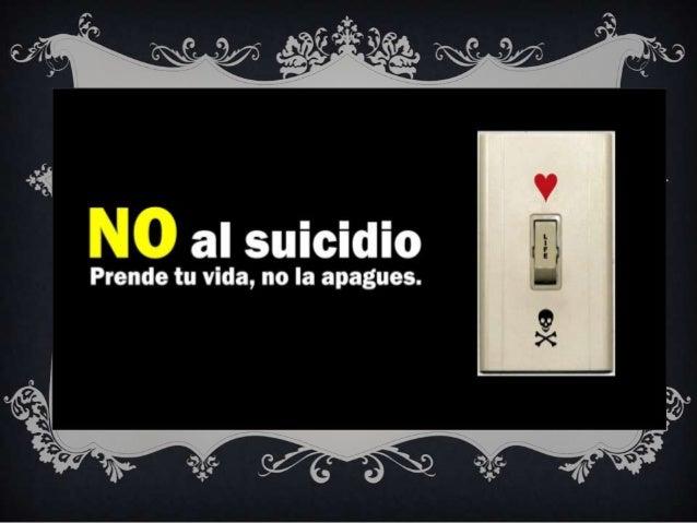 EL SUICIDIO NOES LA SOLUCION...  PERO SI UNA    OPCION…
