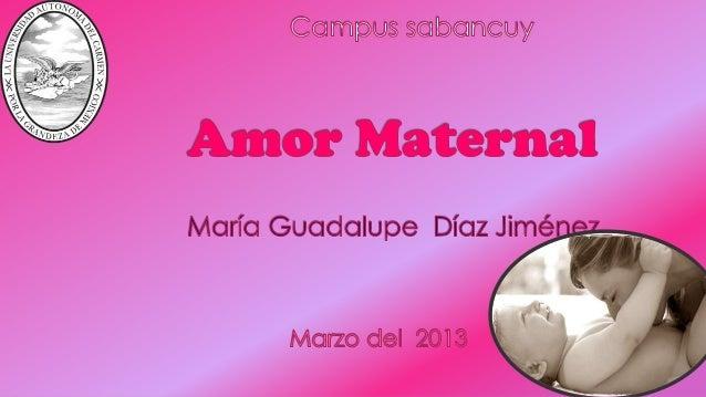 Campus sabancuyAmor MaternalMaría Guadalupe Díaz Jiménez.Marzo del 2013