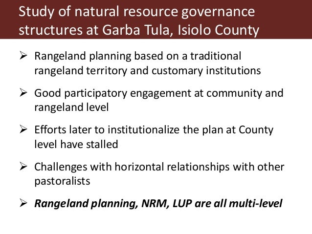 Community Based Natural Resource Management Case Studies