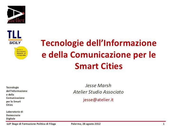 Tecnologie dell'Informazione                             e della Comunicazione per le                                     ...