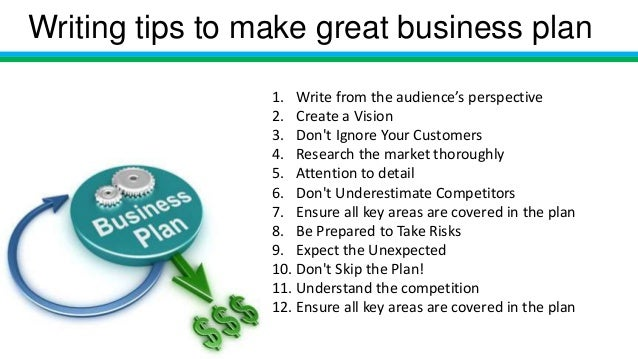 How to write business plan (sample)