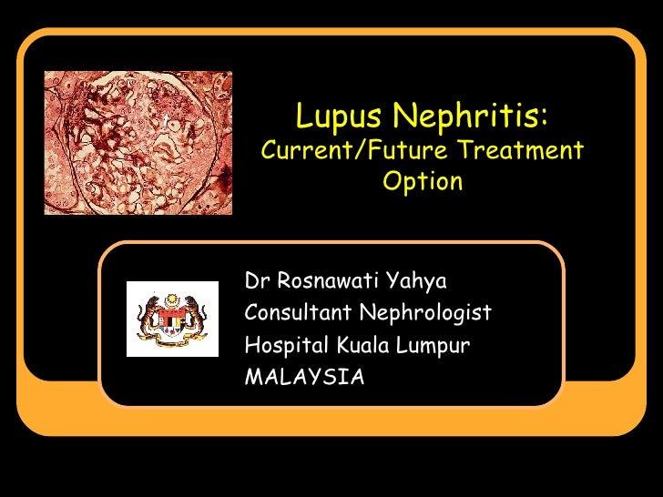 Lupus Nephritis: Current/Future Treatment Option Dr Rosnawati Yahya Consultant Nephrologist Hospital Kuala Lumpur MALAYSIA