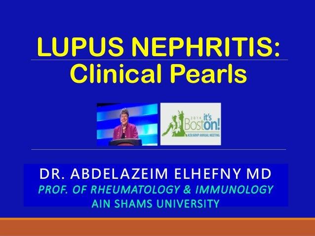 Lupus nephritis peals
