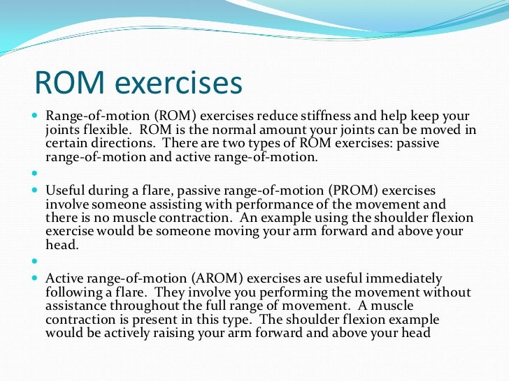 rom and strengthening exercises as a Exercises for bedridden patients learn easy bedridden and rom exercises for patients to help keep joints flexible.