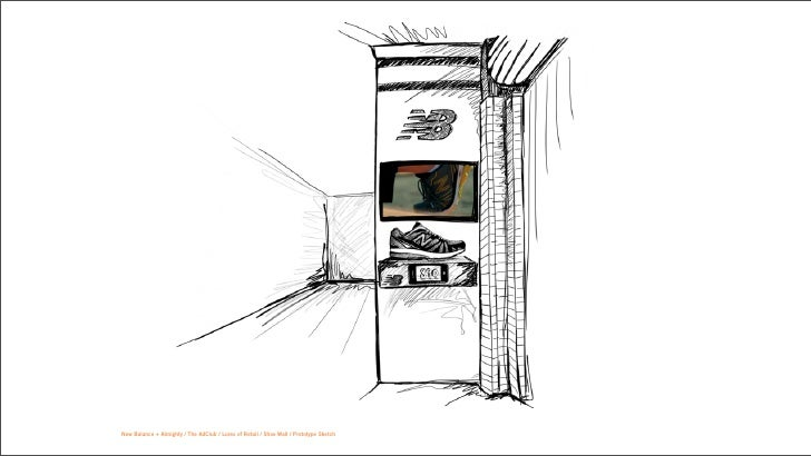 New Balance + Almighty / The AdClub / Lures of Retail / Shoe Wall / Prototype Sketch