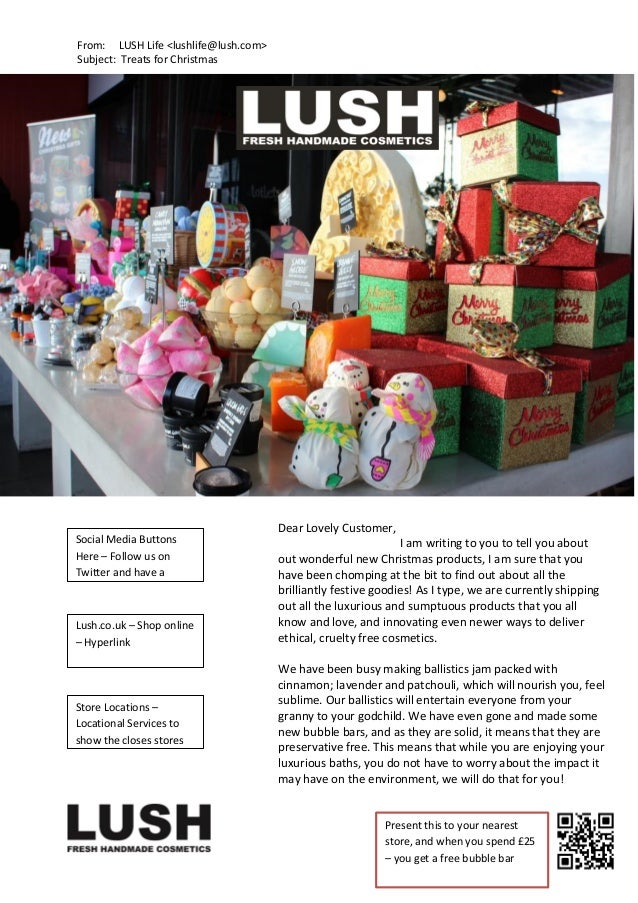 From: LUSH Life <lushlife@lush.com> Subject: Treats for Christmas  Social Media Buttons Here – Follow us on Twitter and ha...