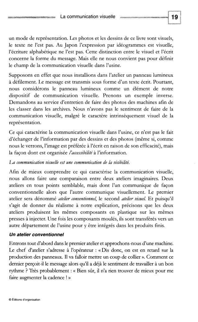 La communication visuelle Fig. 1-3 - Deux usines, deux modes de communication Des perceptions différentes de la réalité Tr...