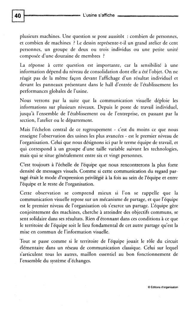 Le territoire de l'équipe Fig. 2-2 - Usine Valeo de La Suze-sur-Sarthe. Indicateurs de performances Etudions le tableau de...