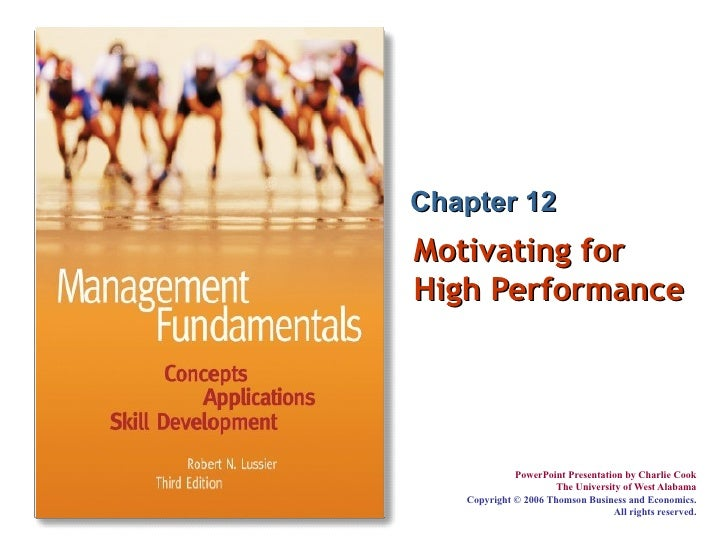 Motivating for High Performance Chapter 12