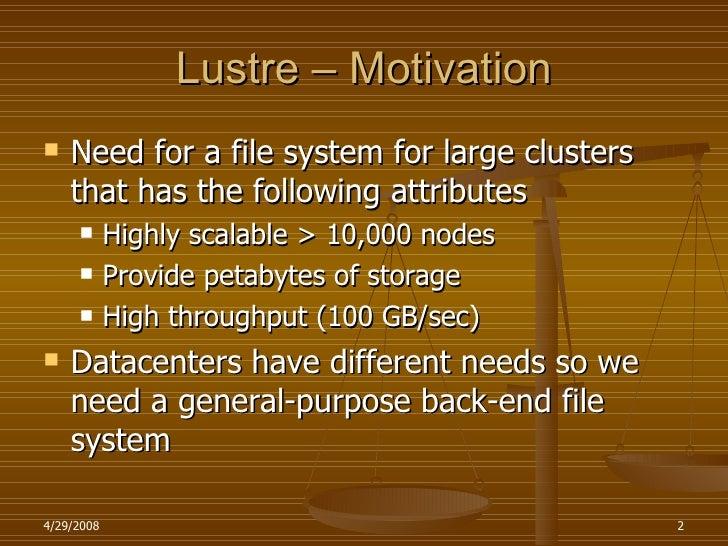 Lustre And Nfs V4 Slide 2