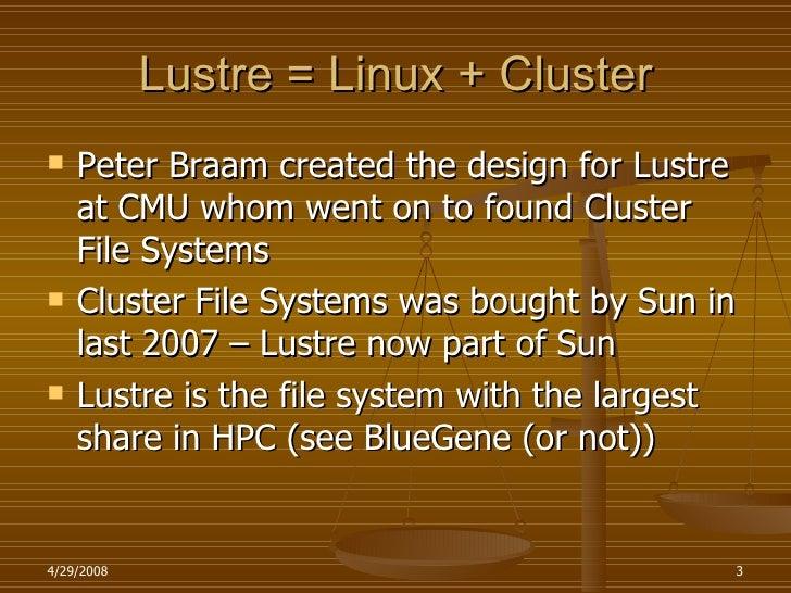 Lustre And Nfs V4 Slide 3