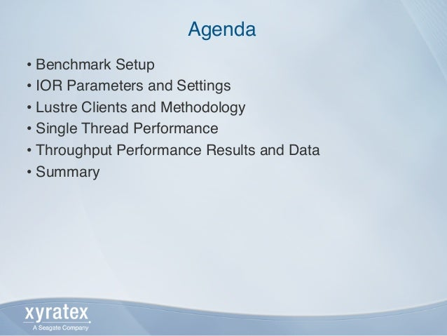 Lustre client performance comparison and tuning (1.8.x to 2.x) Slide 2