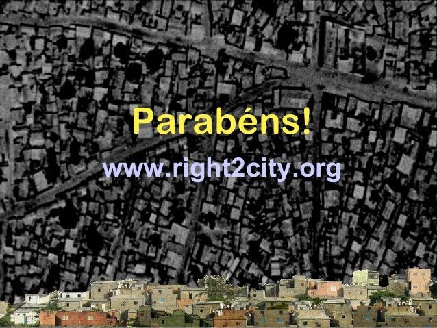 Luta para a adopção do direito à cidade no habitat iii