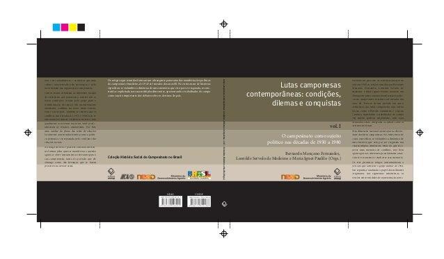 Lutas camponesas contemporâneas: condições, dilemas e conquistas Bernardo Mançano Fernandes, Leonilde Servolo de Medeiros ...