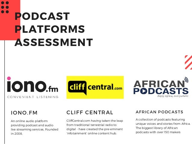An online audio platform providing podcast and audio live streaming services, Founded in 2008, IONO.FM PODCAST PLATFORMS A...