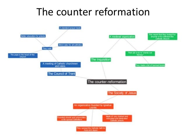 reformation and counter reformation The counter reformation the catholic church did not remain stagnant when the protestant reformation began many catholics recognized the need for reform.