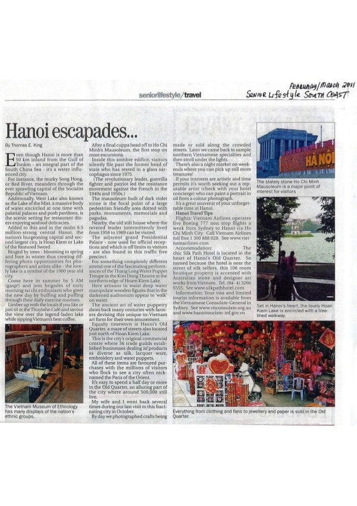 Luther king  australian magazine - hanoi escapades senior lifestyle so coast feb - march 2011