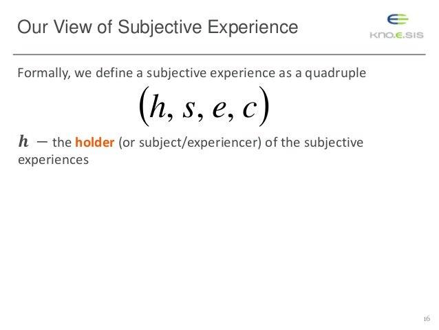 define subjective