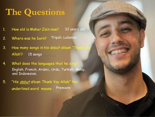 Maher Zain (descriptive text)