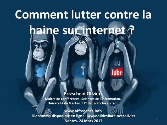 Ertzscheid Olivier. Maître de conférences. Sciences de l'information. Université de Nantes. IUT de La Roche sur Yon. 1 www...