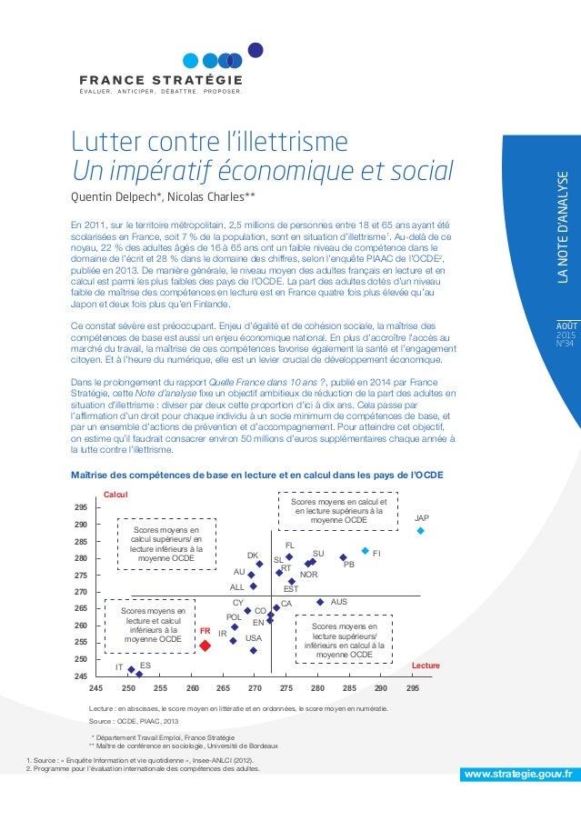 AOÛT 2015 N°34 LANOTED'ANALYSE www.strategie.gouv.fr En 2011, sur le territoire métropolitain, 2,5 millions de personnes e...