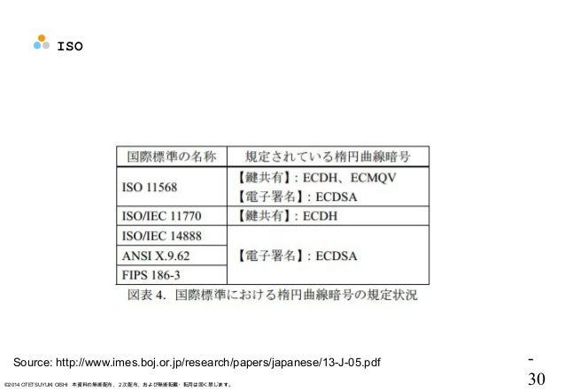 - 30©2014 OTETSUYUKI OISHI 本資料の無断配布、2次配布、および無断転載・転用は固く禁じます。 ISO Source: http://www.imes.boj.or.jp/research/papers/japanese...