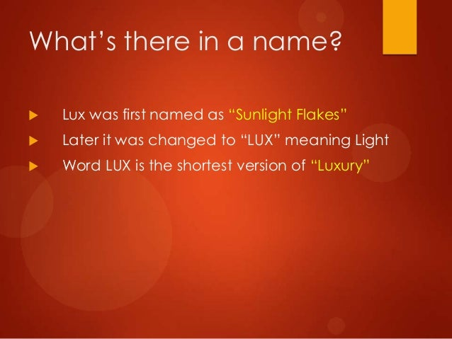 Lux as a Brand