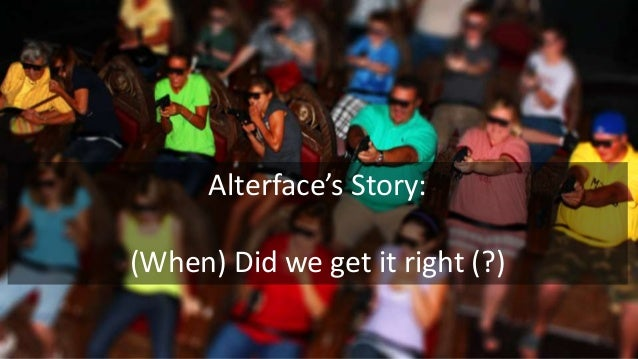 Alterface's Story: (When) Did we get it right (?)