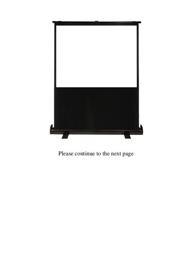 Luxburg 80-Inch 177 x 100 cm Portable Freestanding Floor Pull Projection Screen - Matt White  Slide 2