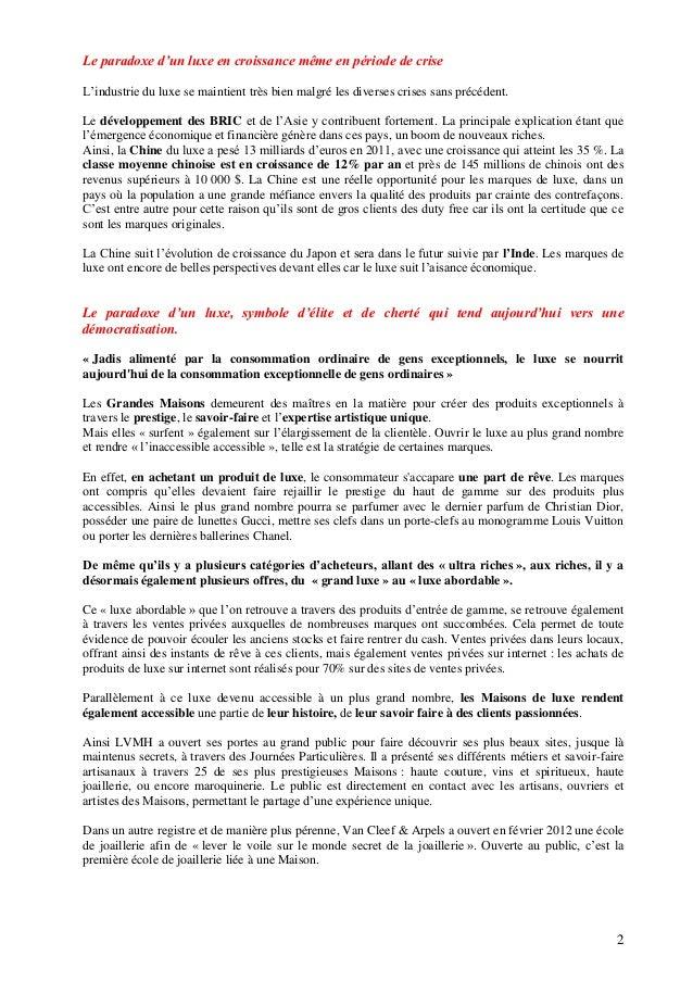 Luxe et Paradoxes   Isabelle Butin pour Sup de Luxe Slide 2