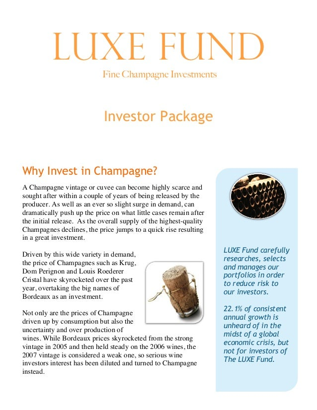 Luxe Fund Introduction to Champagne Investments