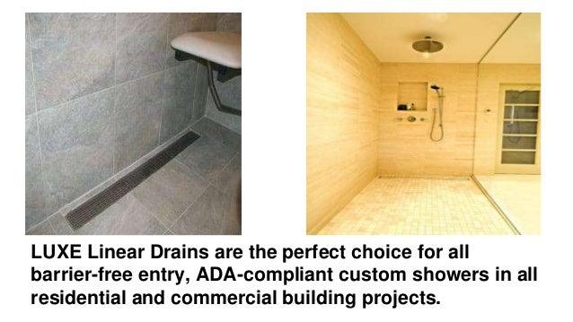 luxe linear shower drain pattern grate