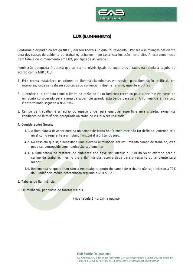 EABSaúdeOcupacional Av.Angélica,672|13ºandar|conjuntos137‐138|Higienópolis|01228‐000SãoPaulo,SP Tel.:5...
