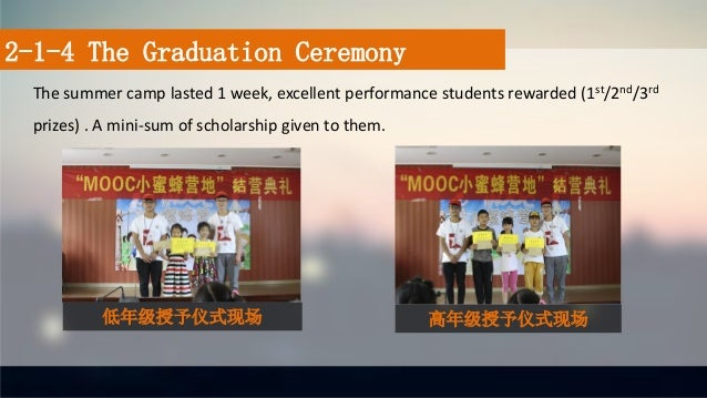 The summer camp lasted 1 week, excellent performance students rewarded (1st/2nd/3rd prizes) . A mini-sum of scholarship gi...