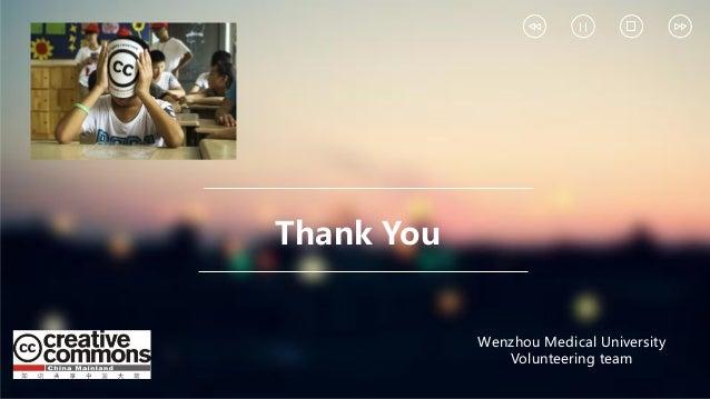 Thank You Wenzhou Medical University Volunteering team