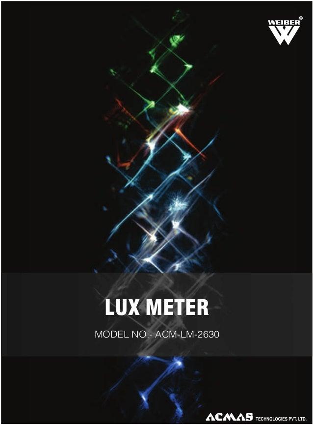 R  LUX METER MODEL NO.- ACM-LM-2630