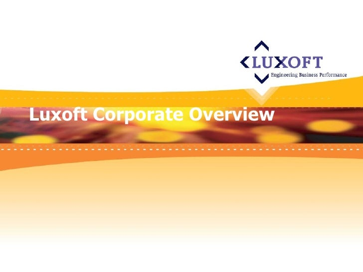 Luxoft Corporate Overview