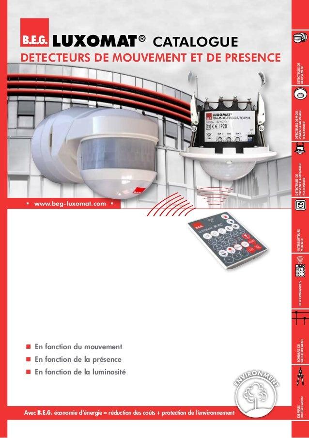Interrupteurs muraux  En fonction du mouvement  En fonction de la présence  En fonction de la luminosité B.E.G.  www....