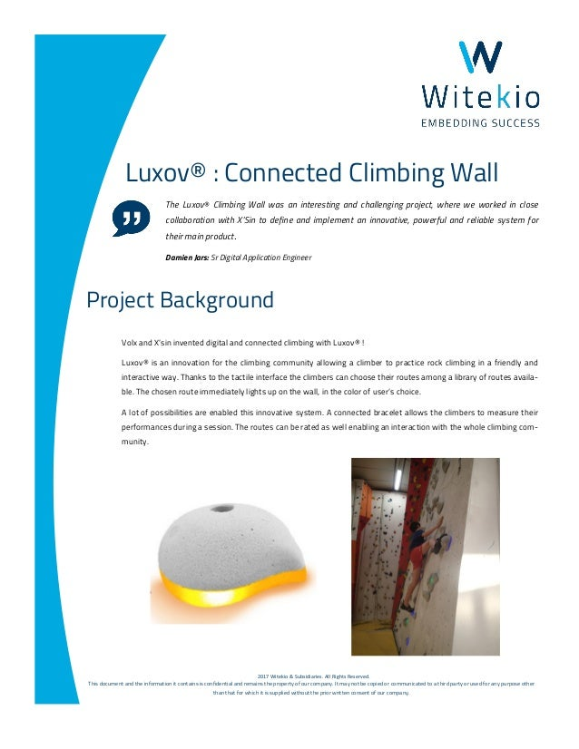 ©2017 Witekio & Subsidiaries. All Rights Reserved. This document and the information it contains is confidential and remai...