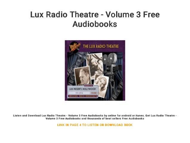 Lux radio theater | old time radio.