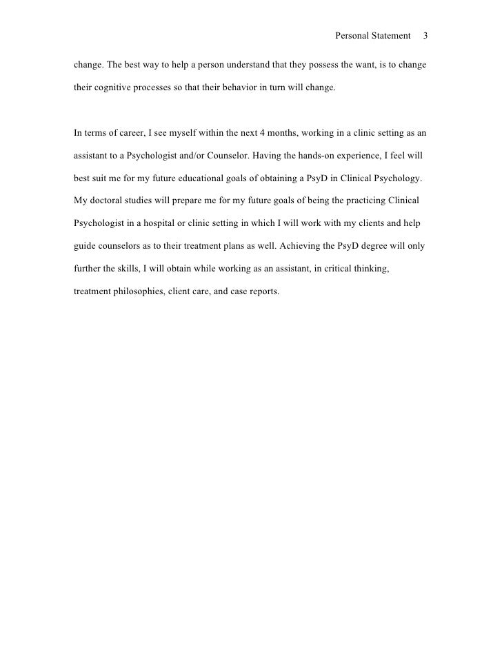 personal statement for dclinpsy application