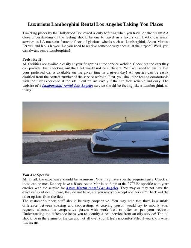 Drive Lamborghini Or Aston Martin Rental In Los Angeles - Rent aston martin los angeles