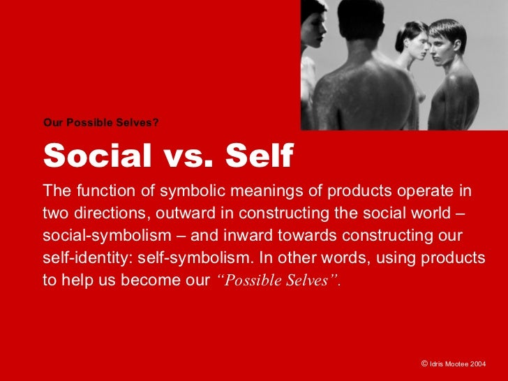 Our Possible Selves?   Social vs. Self The function of symbolic meanings of products operate in two directions, outward in...